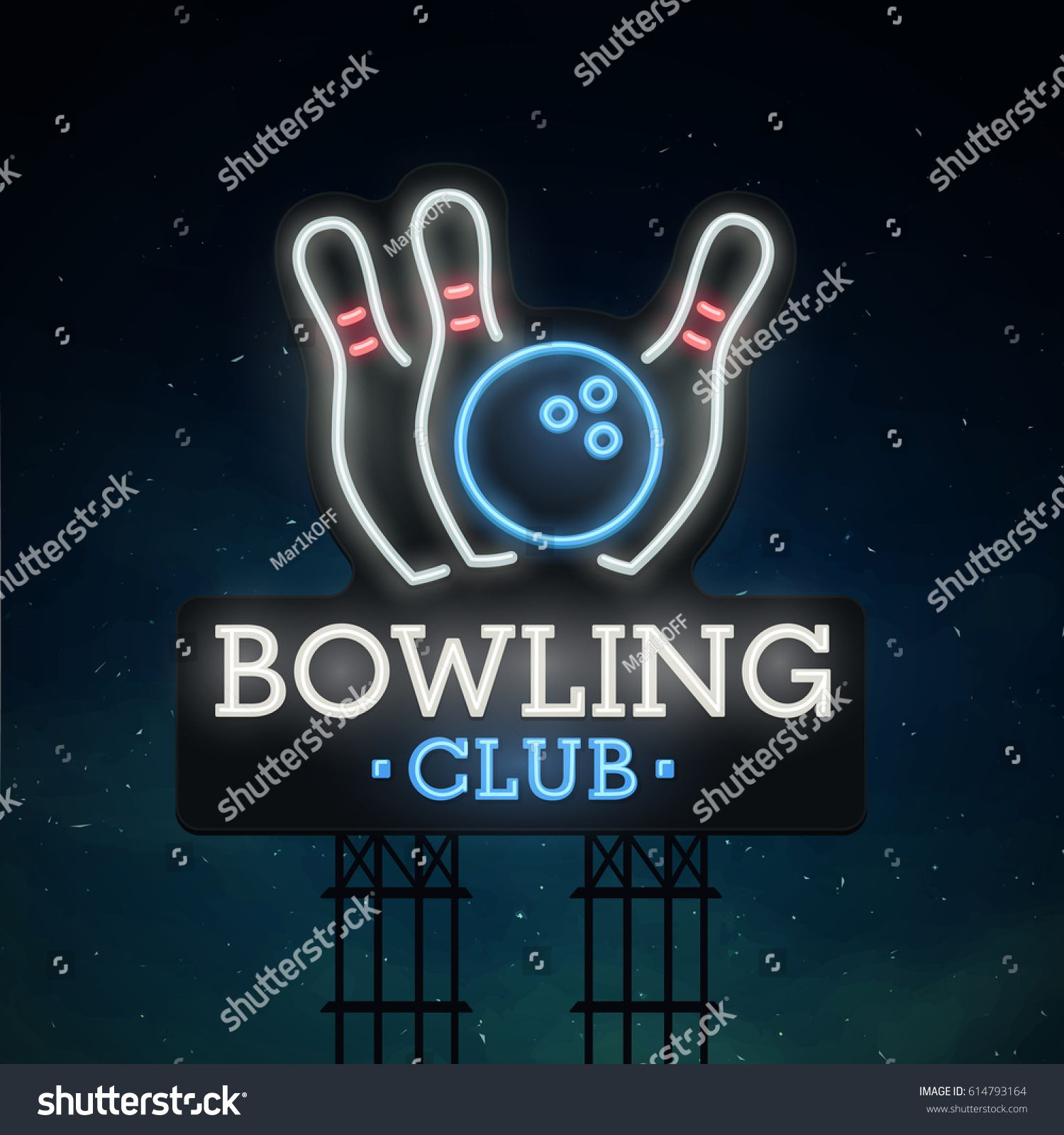 Bowling Road Sing City Sign Neon Logo Emblem Bowling Neon Sign Bright Signboard Light Banner Ad Sponsored City Sig City Sign Neon Stock Neon Signs