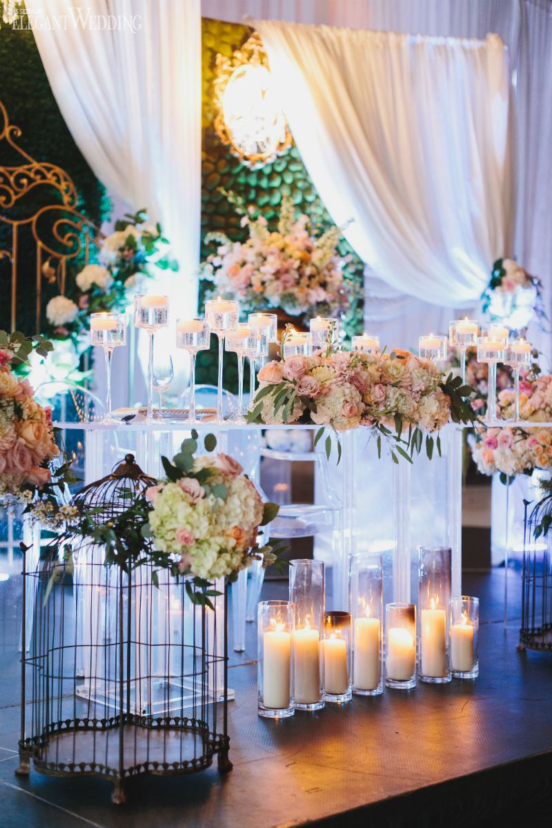 Enchanted Garden Wedding Inspiration Clear Table Decor Secret Setting Blush Flowers Elegantwedding Ca