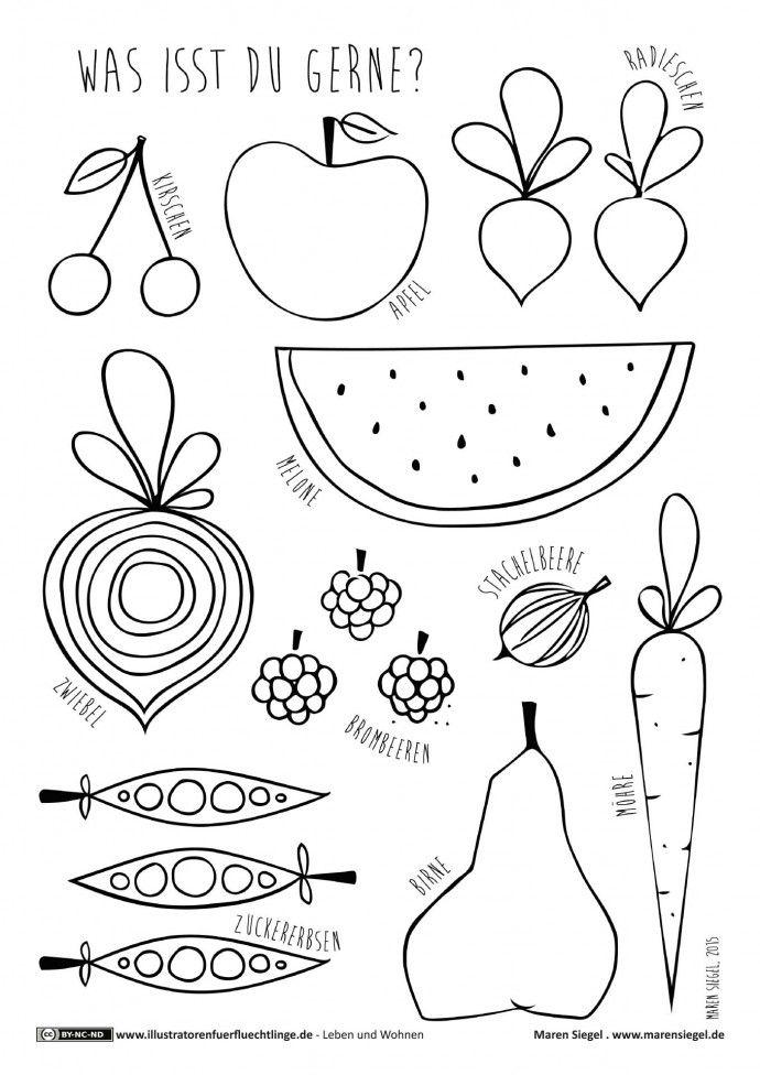 Leben und Wohnen - Obst und Gemüse - Siegel | daz | Pinterest | Obst ...
