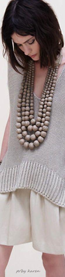 Donna Karan ~ Urban Zen - Oversize Bead Necklace