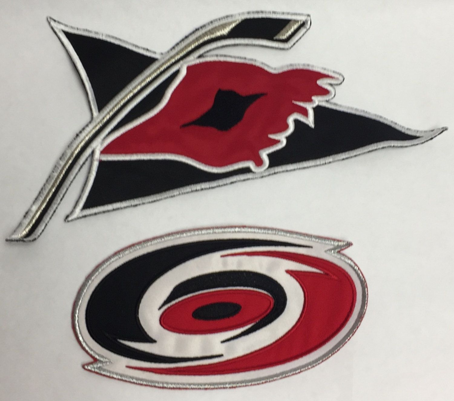 Lot of 2 Medium Sized Carolina Hurricanes Patches by CoryCranksOutHats on Etsy