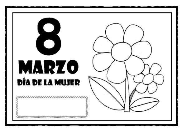 Dibujos del Día de la Mujer para descargar gratis y colorear el 8 de ...