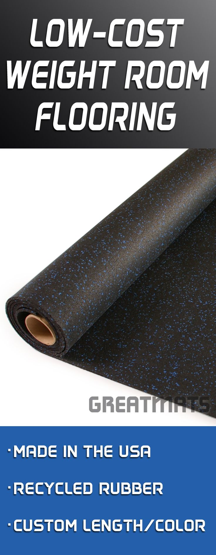 Rubber Flooring Rolls All Sizes and Colors Weight Room
