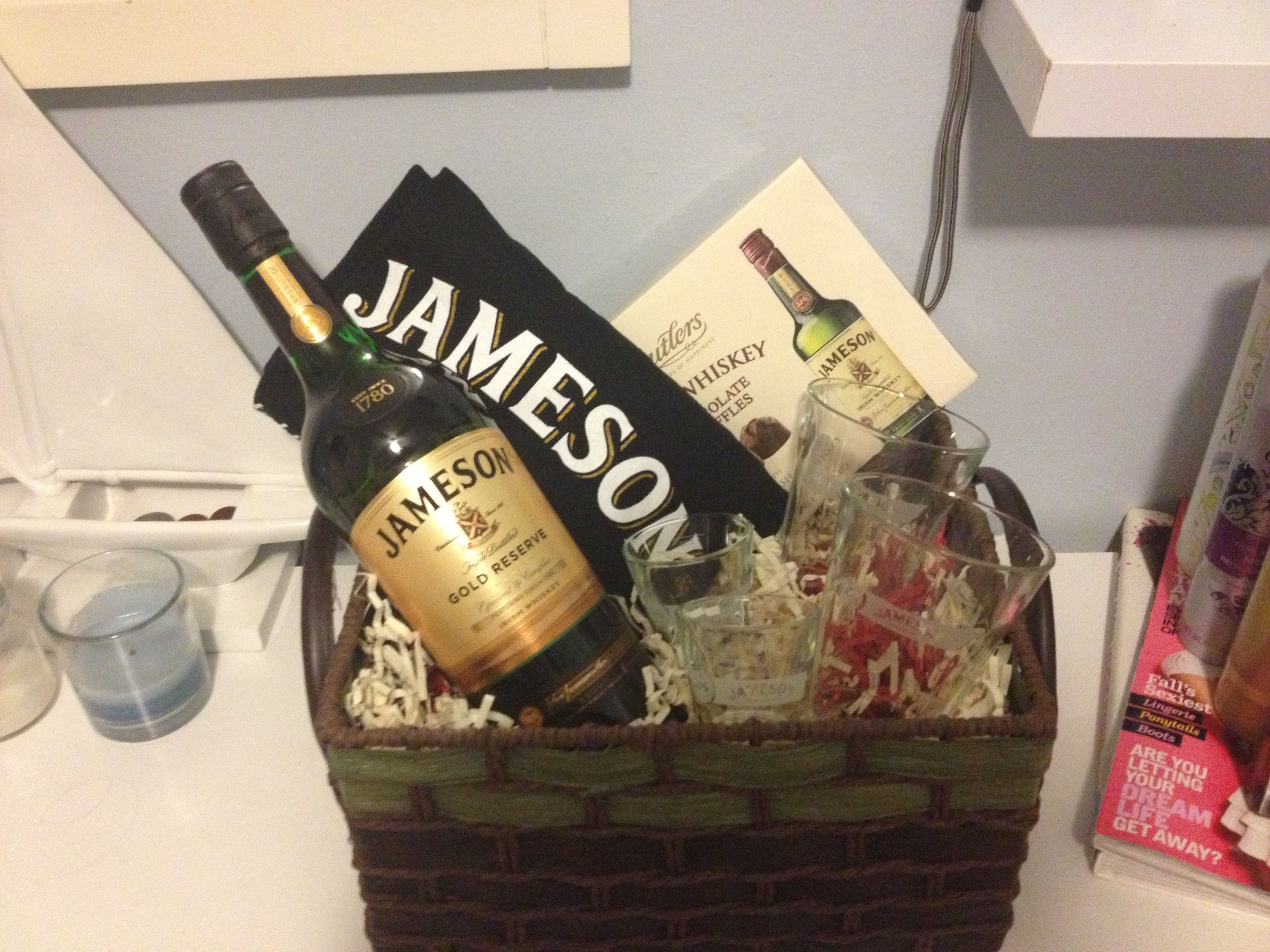 Jameson Whiskey Basket! Perfect Valentine's day gift for him!