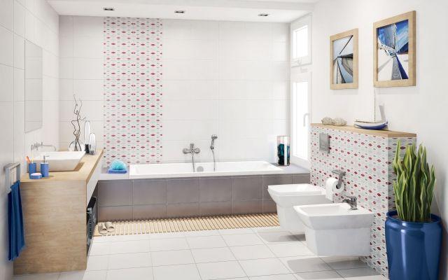 Aranżacja Daria Geometric Cersanit Interiors Bathroom