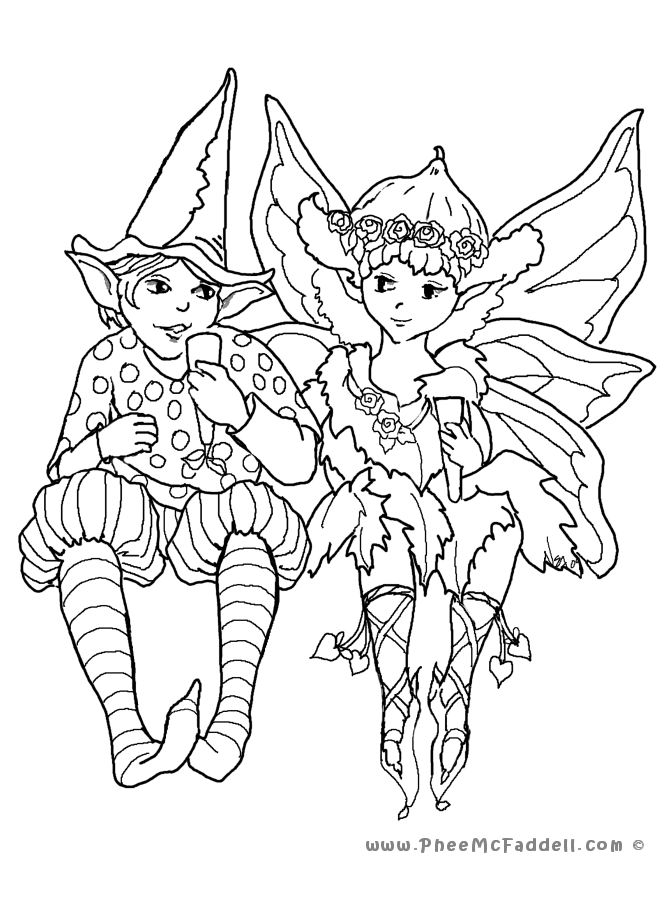 two fairies coloring page tons of free fairy tale digis at wwwpheemcfaddellcom