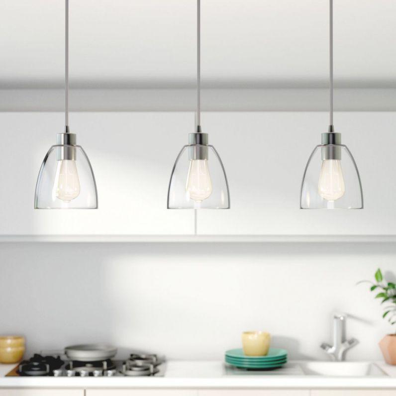 Single Pendant Lighting Over Kitchen
