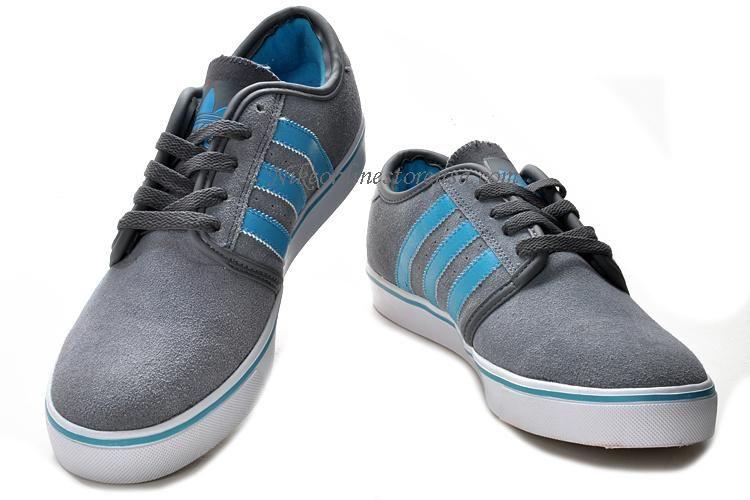 New Adidas Originals Skate Seeley Shoes Gray Blue
