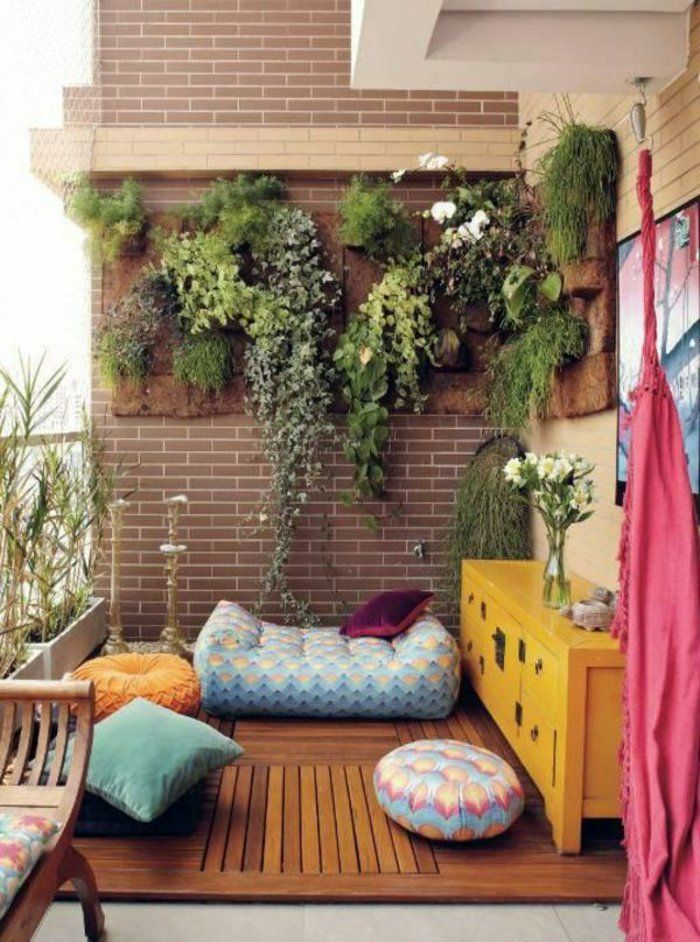 balkongestaltung ideen kleiner balkon einrichten vertikales ...
