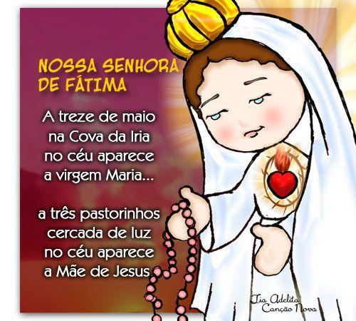 Postal Nsa Sra De Fatima2 Tia Adelita Nossa Senhora De Fatima