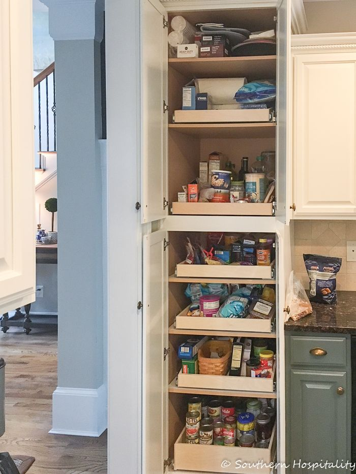 Installing Sliding Shelves in a Pantry - Southern Hospitality