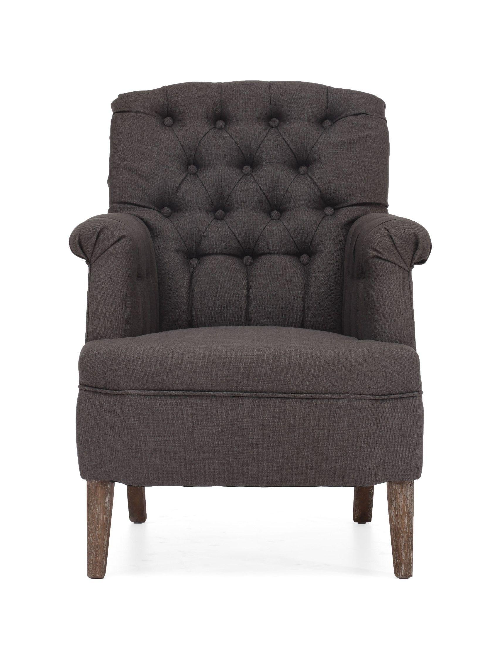 Superieur Castro Charcoal Gray Armchair