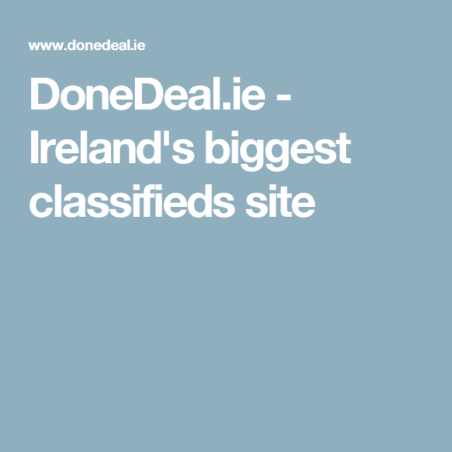674ed40d89 DoneDeal.ie - Ireland s biggest classifieds site