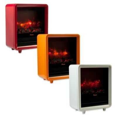 Crane 1500 Watt Mini Fireplace Ceramic Electric Portable Heater
