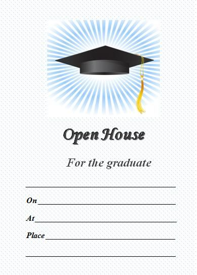Graduation Celebrating Invitation Or Postcard Background Stock