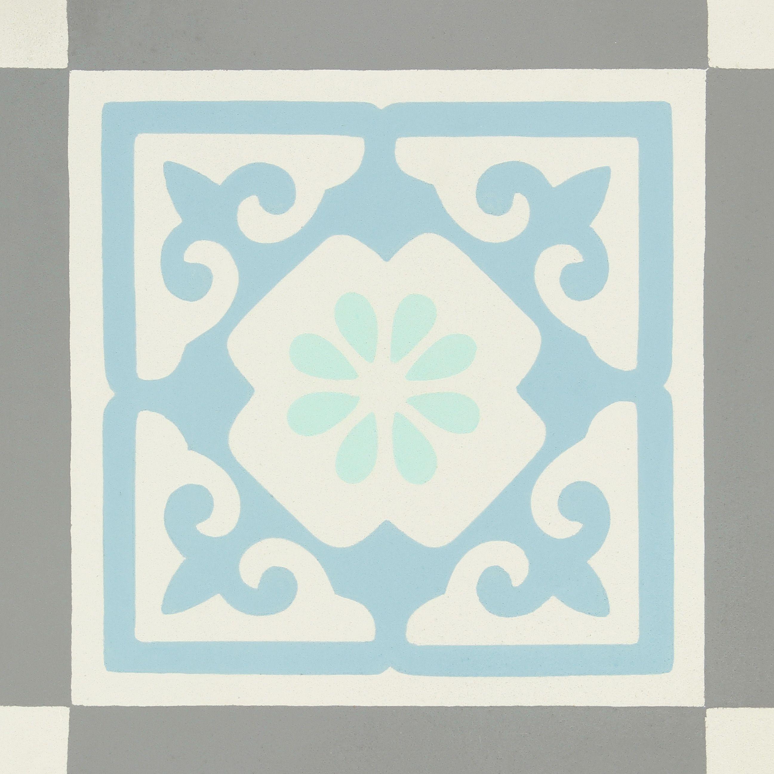 Carreau De Ciment Belle Epoque Decor Gris Bleu Vert Et Blanc L 20xl 20cm Leroymerlin Carreauxdeciment C Carreaux De Ciment Mural Carreau De Ciment Ciment
