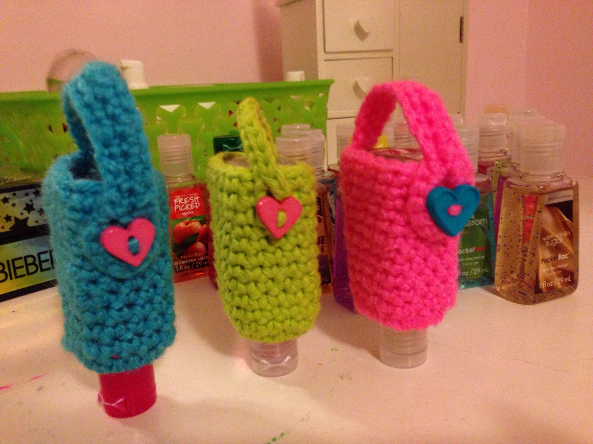 Crochet Hand Sanitizer Holder Hand Sanitizer Holder Crochet