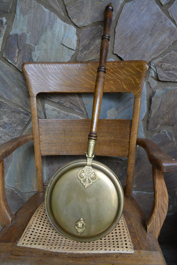 Antique Brass Bed Warmer Brass Bed Warming Pan With Long Brass
