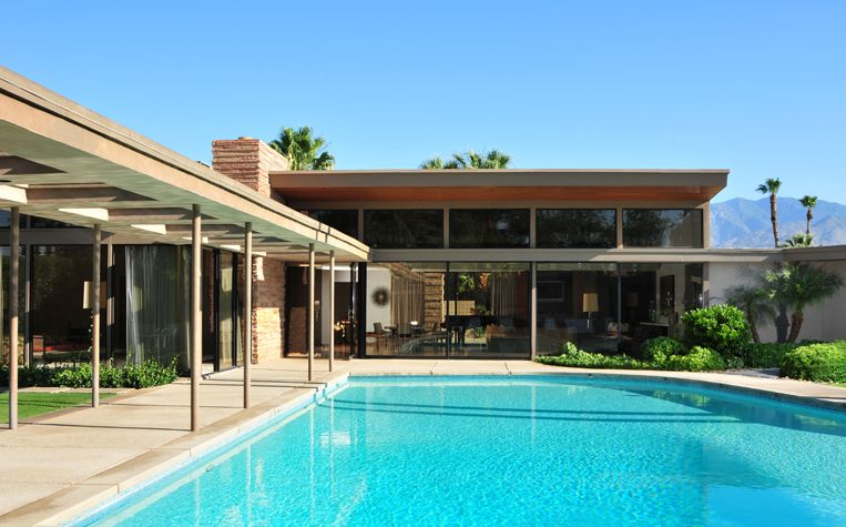 Twin Palms Frank Sinatra S House Palm Springs Calif Retro