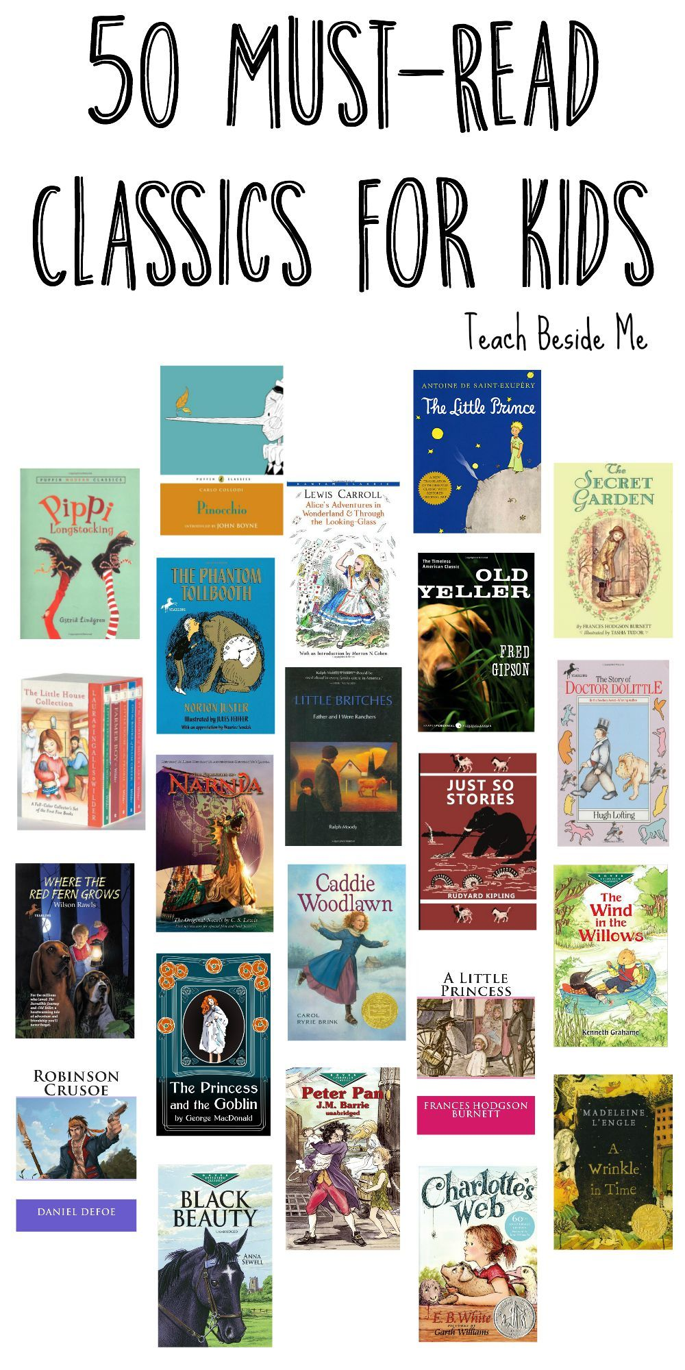 50 Must Read Classics for Kids | Kids reading, Must read ...