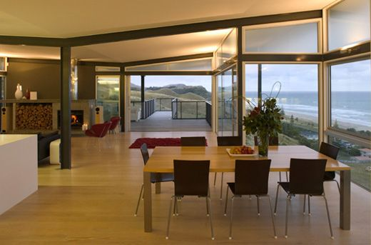 Beach house design t shaped house plans by pete bossley architects