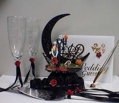 Nightmare-before-Christmas-Wedding-Cake-topper-LOT-Jack-Sally-Halloween-Gift-SET