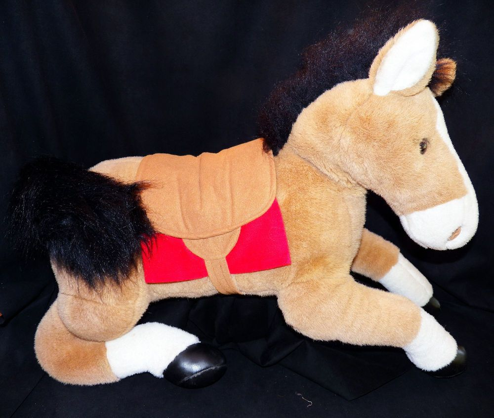 A and A Giant Animal Alley EXTRA LARGE JUMBO Plush Horse 18in ...
