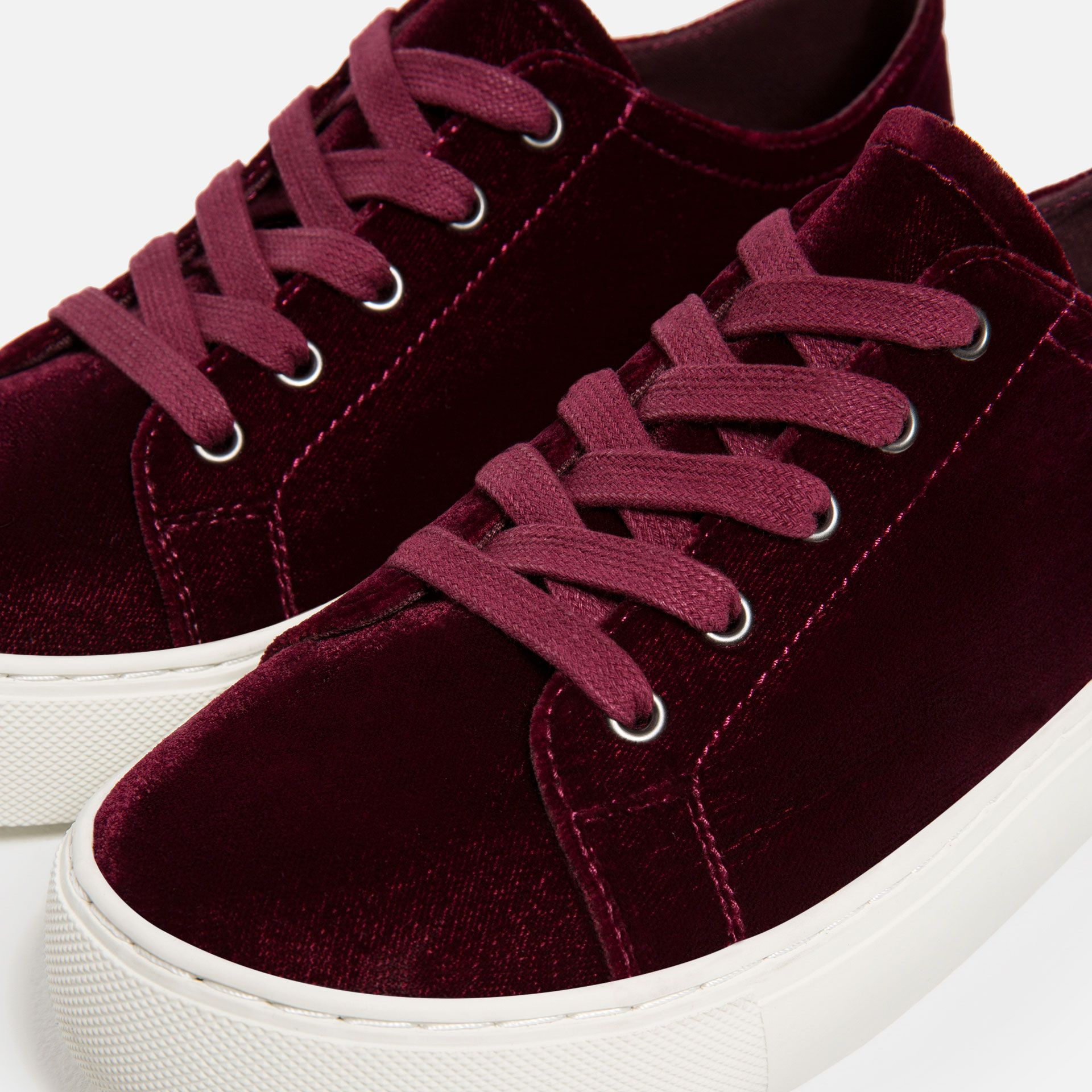 1567ffc1c3fbdf Image 1 of VELVET SNEAKERS from Zara