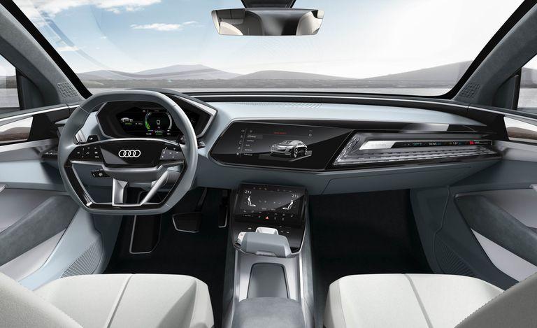Audi E Tron Sportback Concept Slide 12 With Images Audi E Tron Car Interior Design E Tron