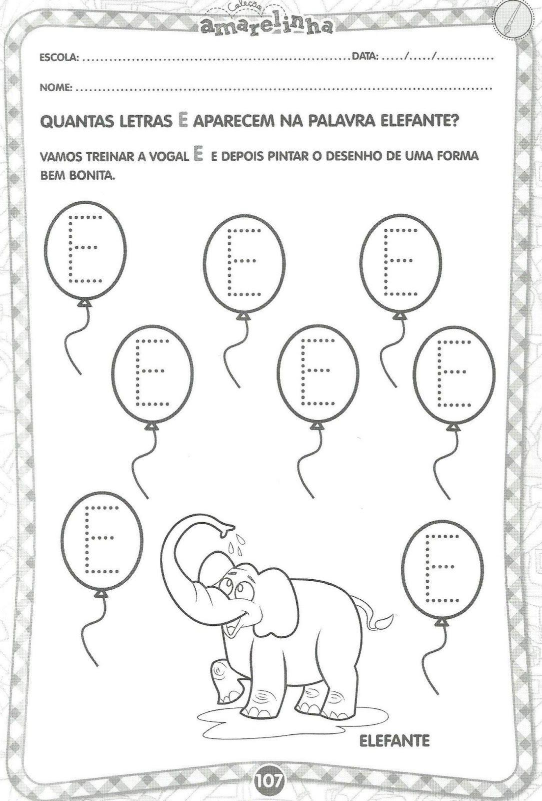 Atividades Educativas Com Vogais Educacao Infantil Atividades
