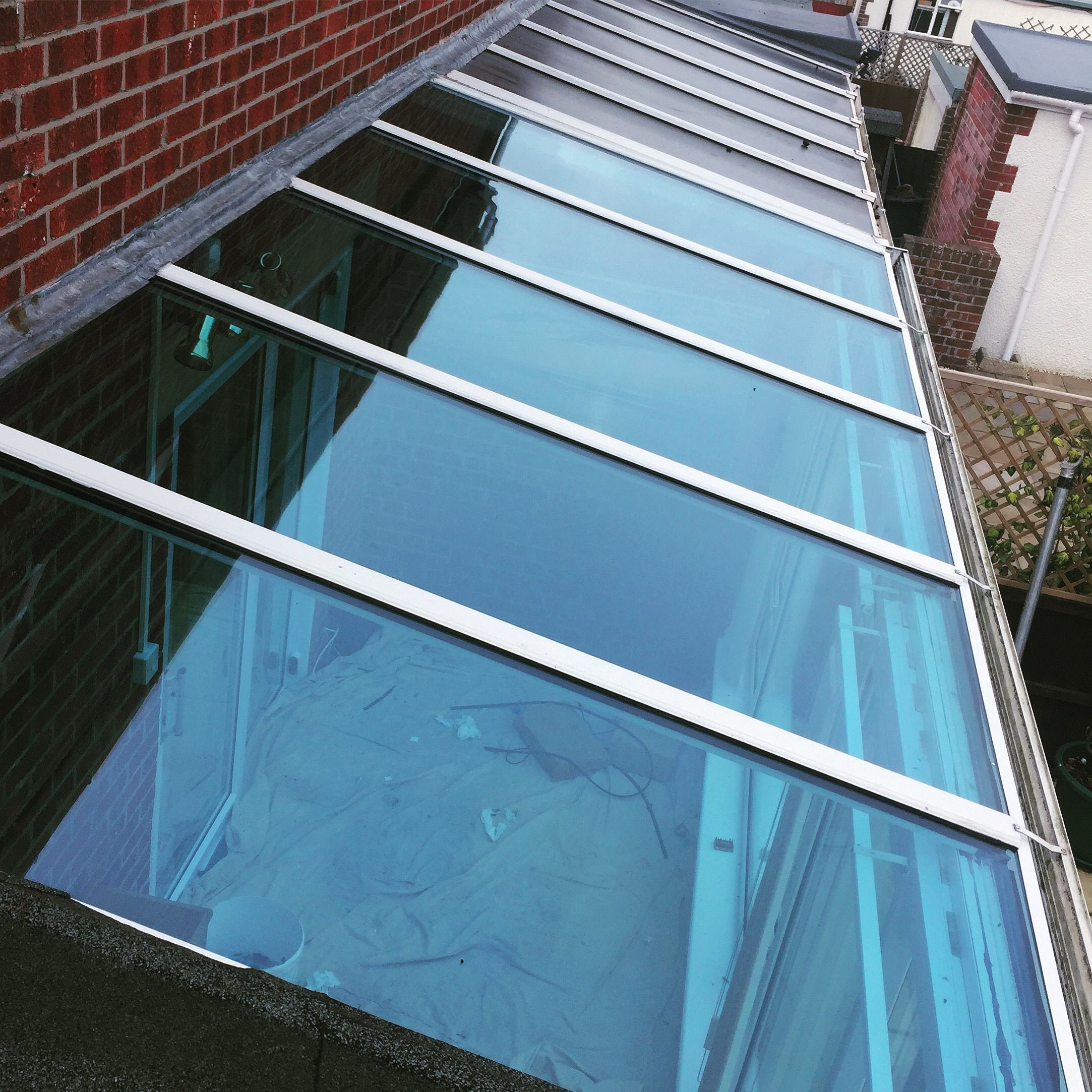We replaced the old Polycarbonate Roof with Energy Efficient Blue ...