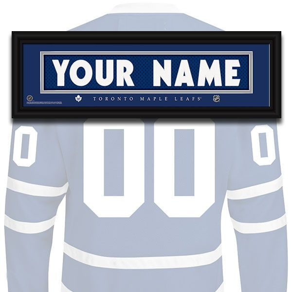 brand new 2ec08 fcc46 NHL Personalized Jersey Name Patch - Toronto Maple Leafs ...