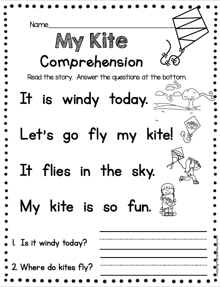 KINDERGARTEN Comprehension - Fun And Easy Way To Practice Fluency And Com…  Reading Comprehension Kindergarten, Reading Comprehension Worksheets,  Preschool Reading