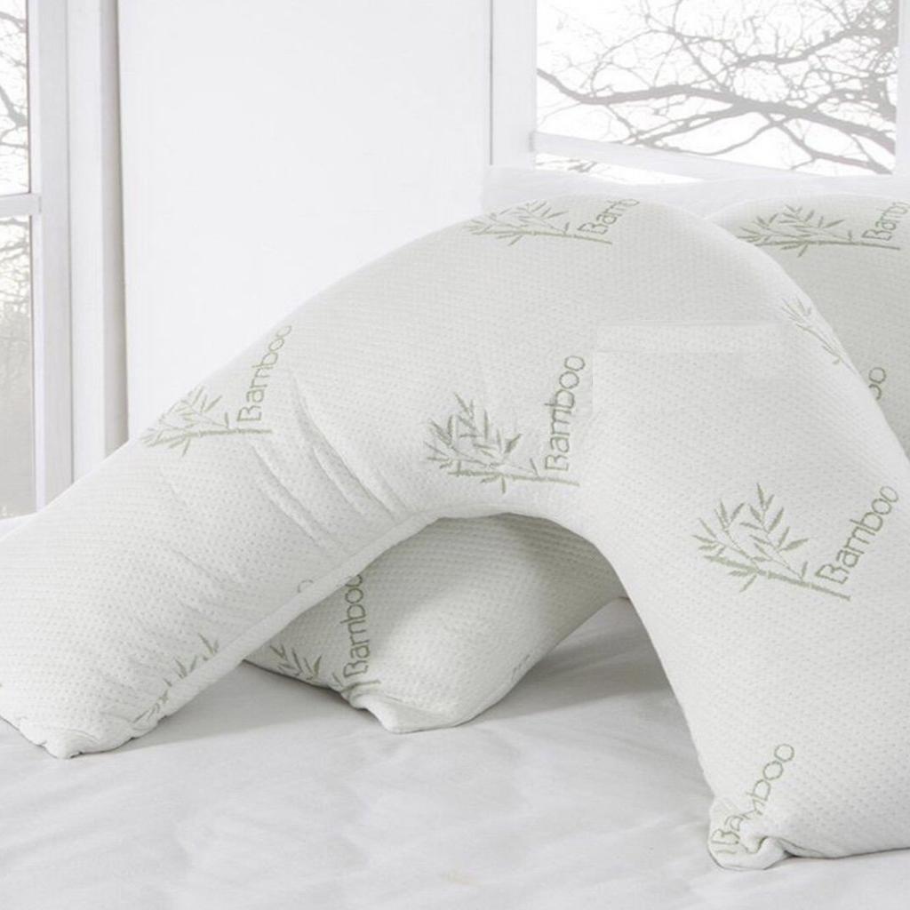 V Shape Bamboo Memory Foam Pillow