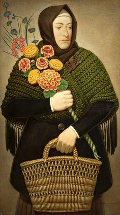 Flowers (1936) by Czesław Wdowiszewski (1904 -1982), Polish followed the traditionalist trend in the art of the 1930s and the postwar period  (wiki - mediacache)