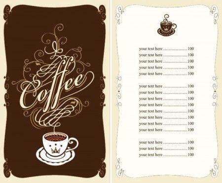 Set of cafe and restaurant men...