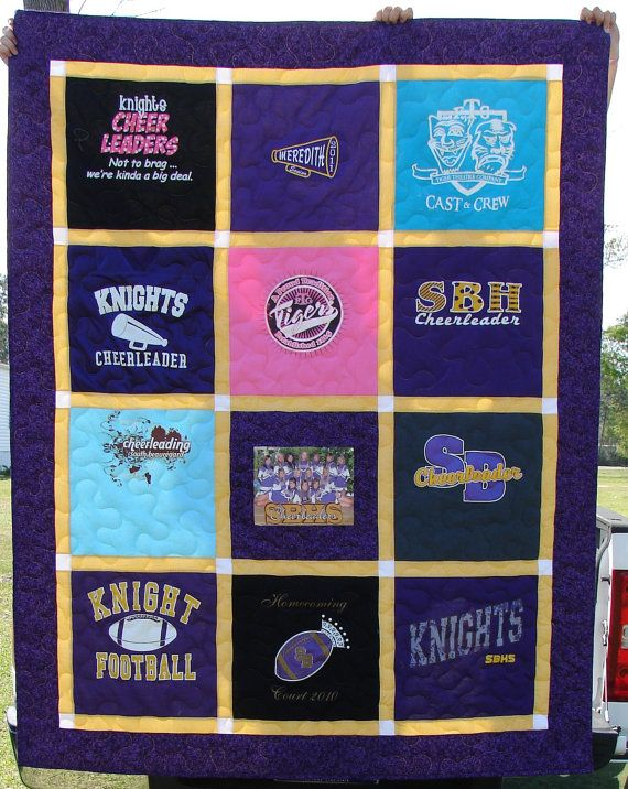 Tshirt Quilt Made to Order 12 blocks by BreauxBunchQuilts on Etsy ... : t shirt quilt order - Adamdwight.com