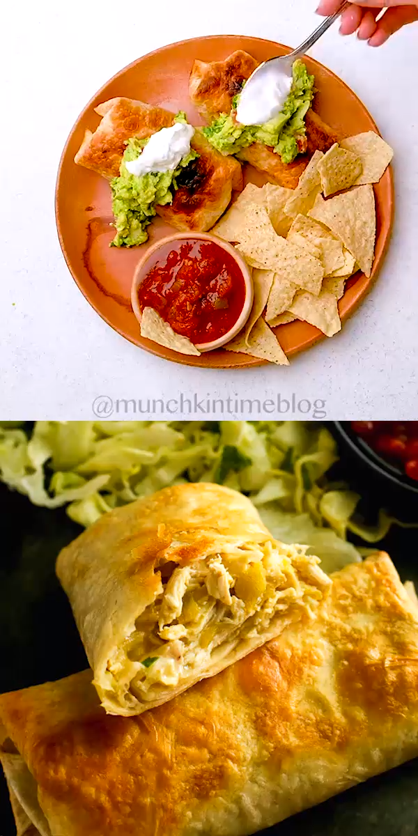 Easy 30-Minute Chicken Chimichanga #mexicandishes