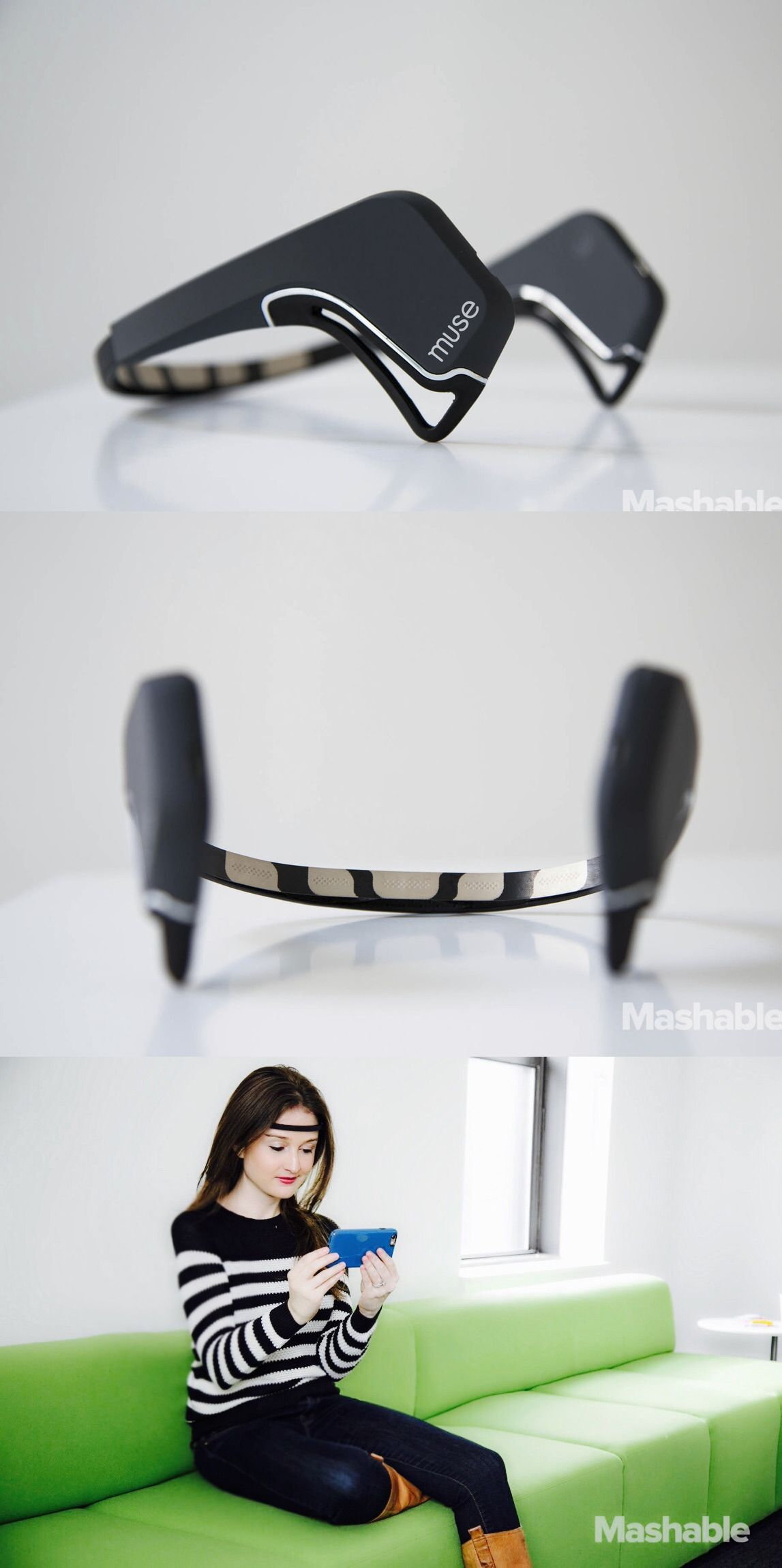 The Muse is a brain-sensing headband that pairs with your phone to help you…