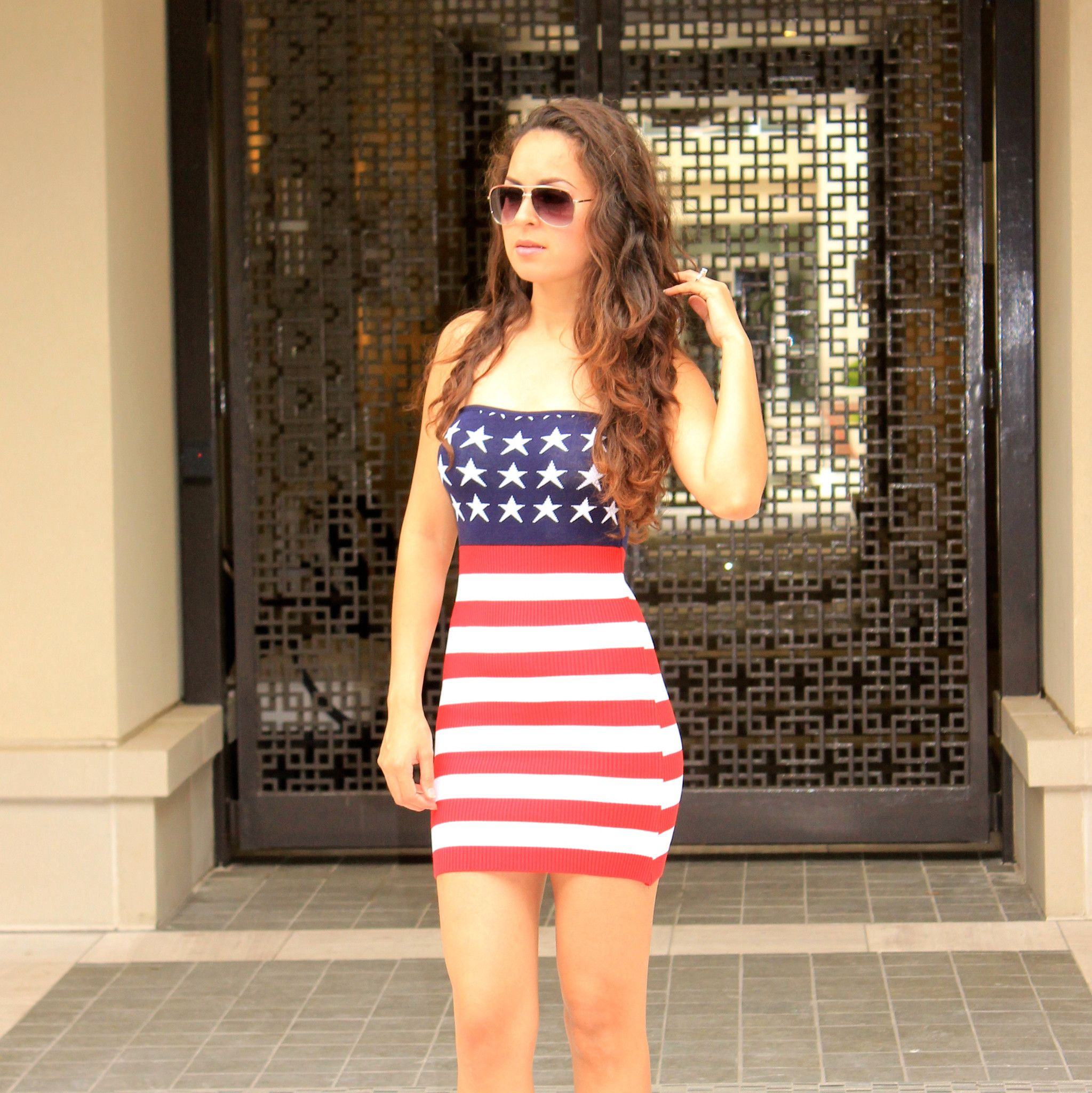 274d9c24b75 USA American Flag Dress