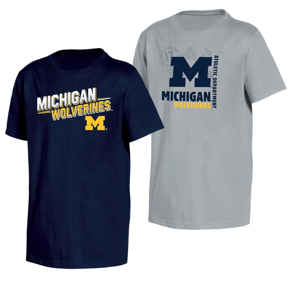 d8f67cee5c1 Michigan Wolverines Double Trouble Toddler Short Sleeve 2pk T-Shirts ...