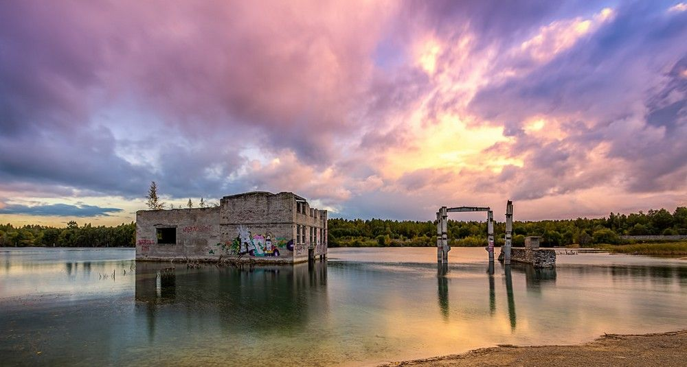 Rummu Karjäär - abandoned prison and limestone quarry complex. Rummu, northern Estonia http://en.wikipedia.org/wiki/Rummu