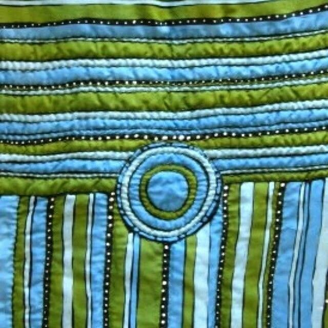 """Águas"" Batik javanês sobre seda, acolchoado. Quilt. Cecilia Panipucci Estamparia. www.ceciliapanipucci.com"