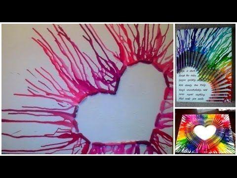 Diy Geschmolzenes Herz Mit Spruch Auf Leinwand Kunst Leinw