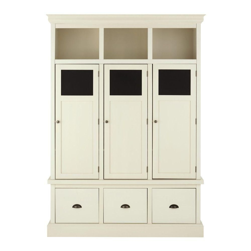 Home Decorators Collection Shelton Wood Storage Locker in Polar ...