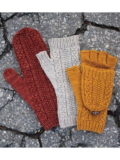 Cabled Dad Mittens Knit Pattern   Knitting   Fingerless ...