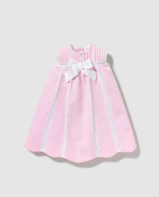 ea840a23e Faldón de bebé niña Dulces en rosa con lazo