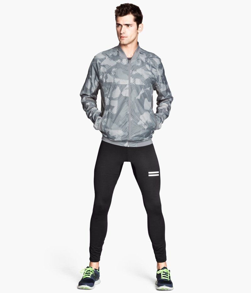 Sean O Pry Mathias Lauridsen Get Sporty With H M Mens Running Tights Running Tights Lycra Men