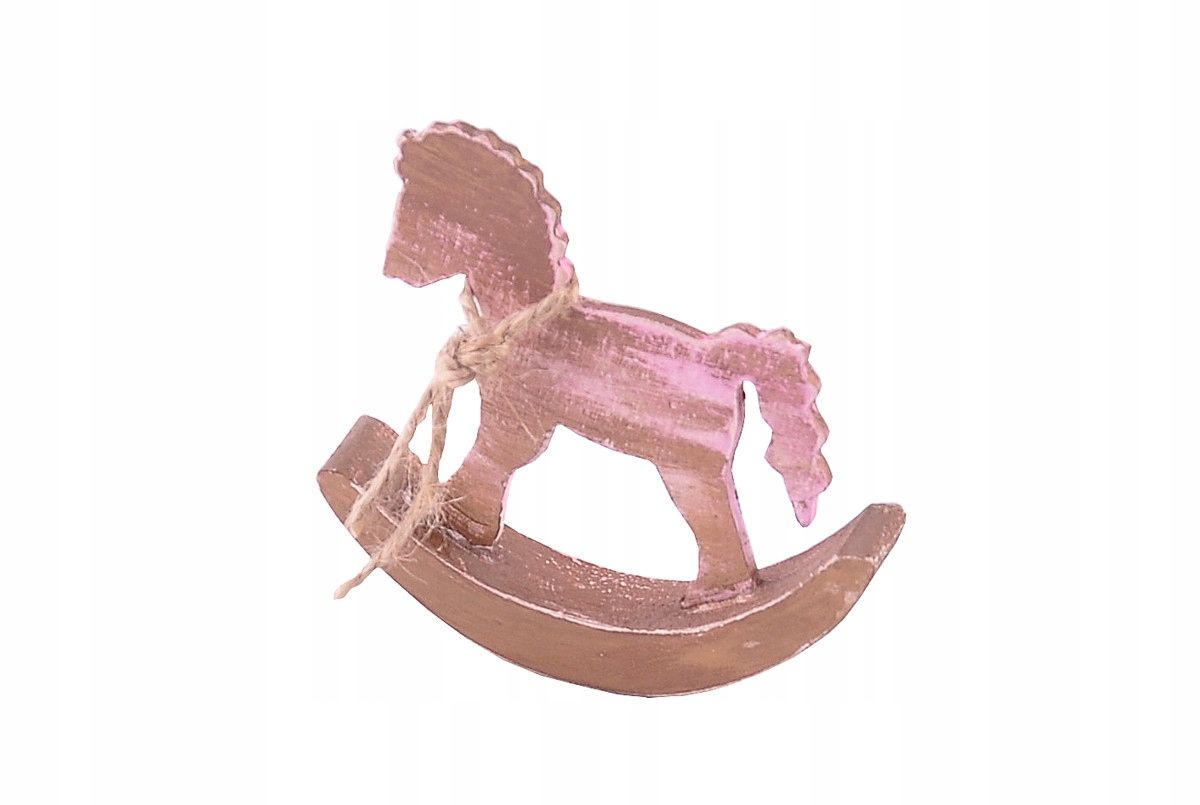 Eko Konik Na Biegunach Zloty Konik Drewno Prezent 7595322888 Oficjalne Archiwum Allegro Wooden Animals Childrens Room Decor Kids Toys