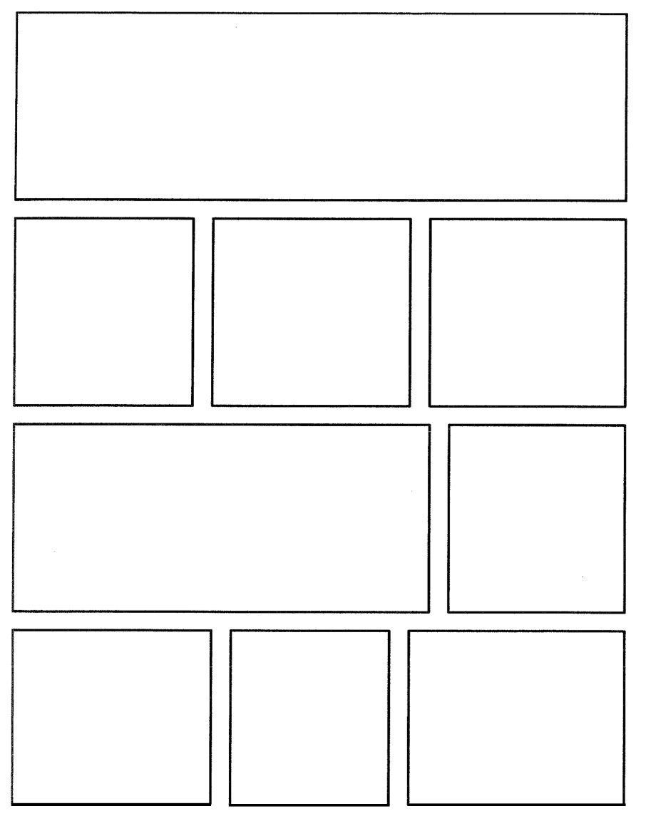 comic strip template 9  Comic Book Template Pdf | Ebook pertaining to Comic Book ...